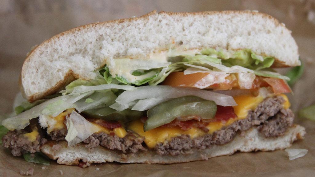 Best Fast Food Burger - Burger King Whopper Side View