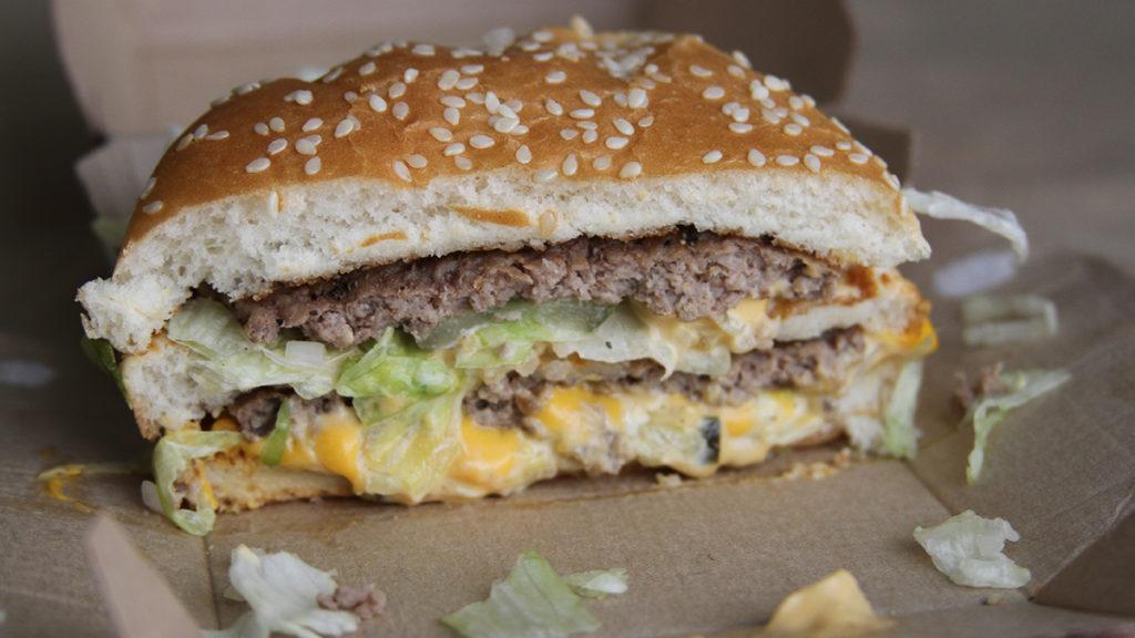 Best Fast Food Burger - McDonalds Big Mac Split View