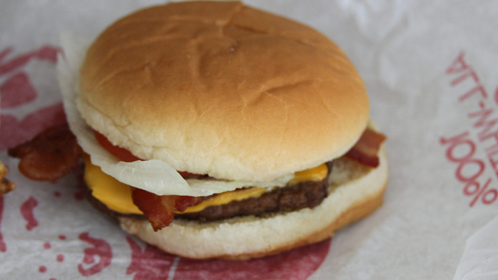Best Fast Food Burger - Wendys Jr Bacon Cheeseburger